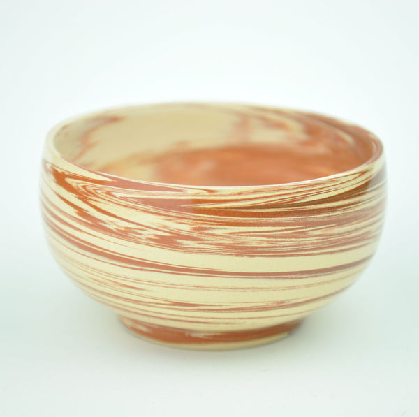 "Swirled ""Red on White Clay"" Jian Shui Tea Cups * Set of 2 * 80ml"