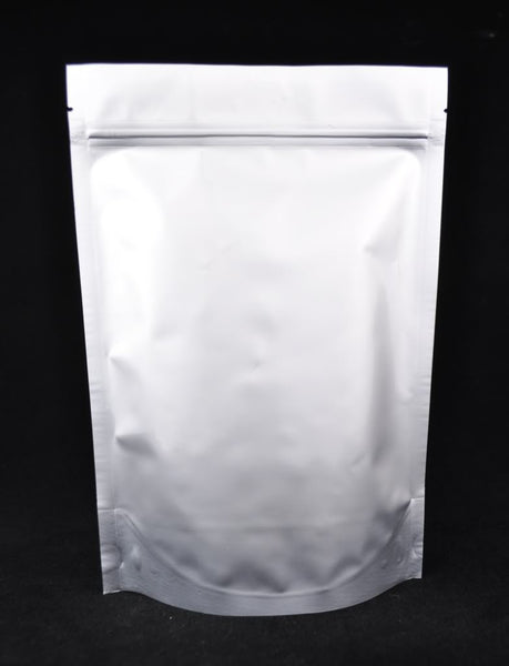 Heavy Duty Zip Lock Silver Stand-up Pouches for Tea Packaging and Storage