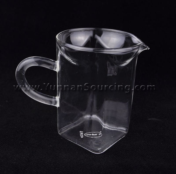 "Glass Sharing Pitcher ""Square Cha Hai"" for Gong Fu Tea * 200ml"