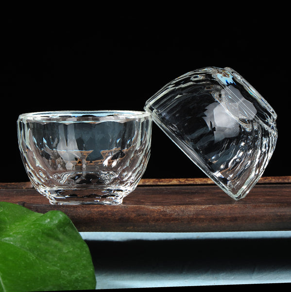 Classic Crystal Tumblers for Gong Fu Tea * Set of 2 Cups