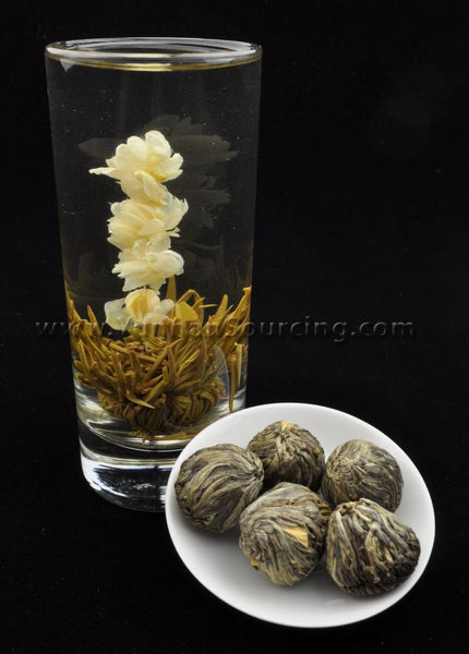 "Blooming Tea Balls ""Step By Step"" Hand Crafted Flowering Tea"