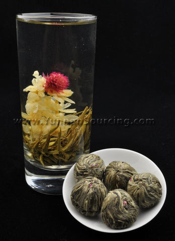 "Blooming Tea Balls ""Sunset"" Hand Crafted Flowering Tea"