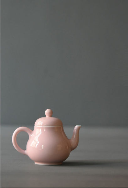 "Jingdezhen Porcelain ""Pink Pear Shape"" Teapot * 135ml"