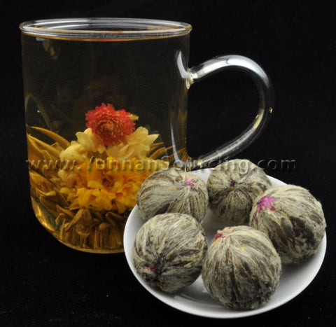 "Blooming Tea Balls ""Well of Wisdom"" Hand Crafted Flowering Tea"