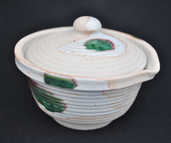 "Hua Ning Pottery ""Peacock Feather on White Clay"" Gaiwan 140ml"