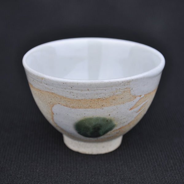 "Hua Ning Pottery ""Peacock Feather on White Clay"" Wide Cup 85ml"