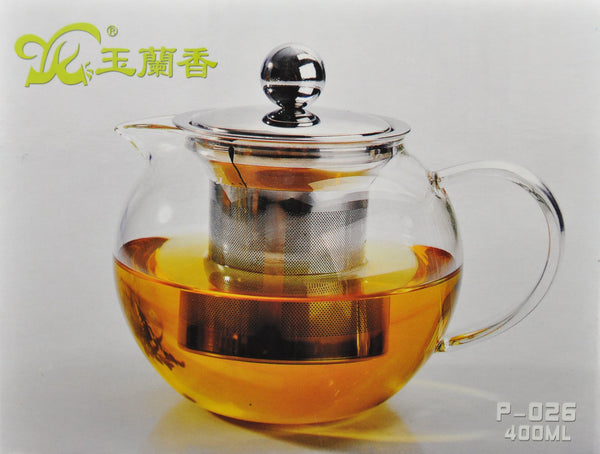 Glass Teapot with Stainless Steel Infuser Core * P-026 400ml