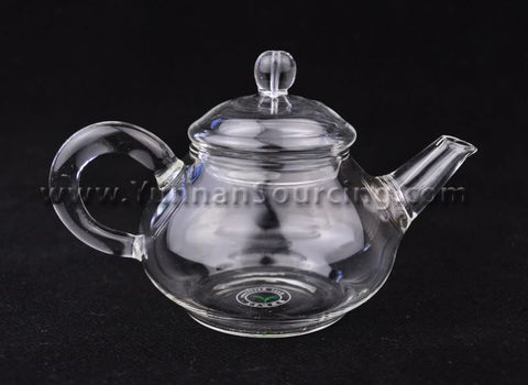 Heat-Tempered 300ml Glass Teapot with Removable Spring Filter