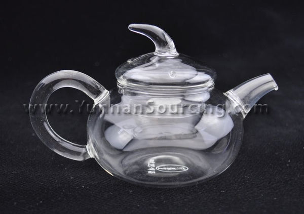 "Heat-Tempered ""Qie Duan"" Glass Teapot * 150ml"