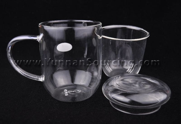 Heat-Tempered Glass tea mug for Gong Fu Tea Brewing * 280ml