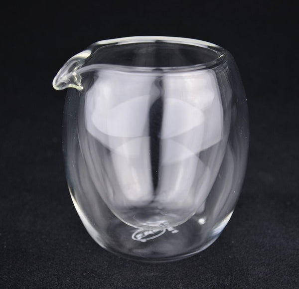All Glass Double-Walled Glass Cha Hai for Gong Fu Cha * 200ml