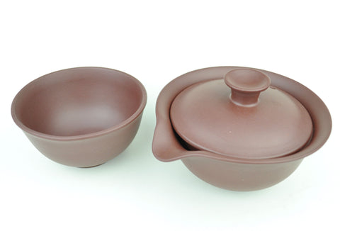 Yixing Purple Clay Easy Gaiwan and Cup Set