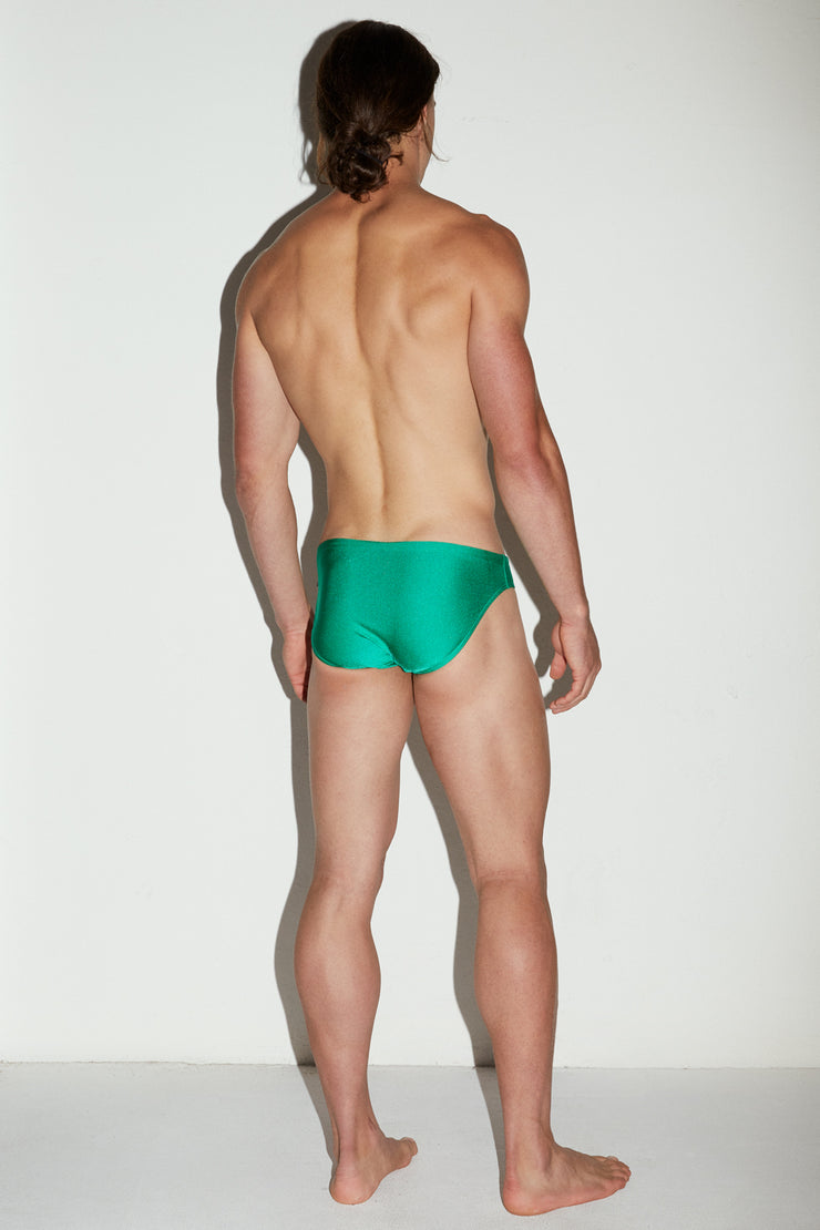 HVNC Emerald Metallic Swim Brief