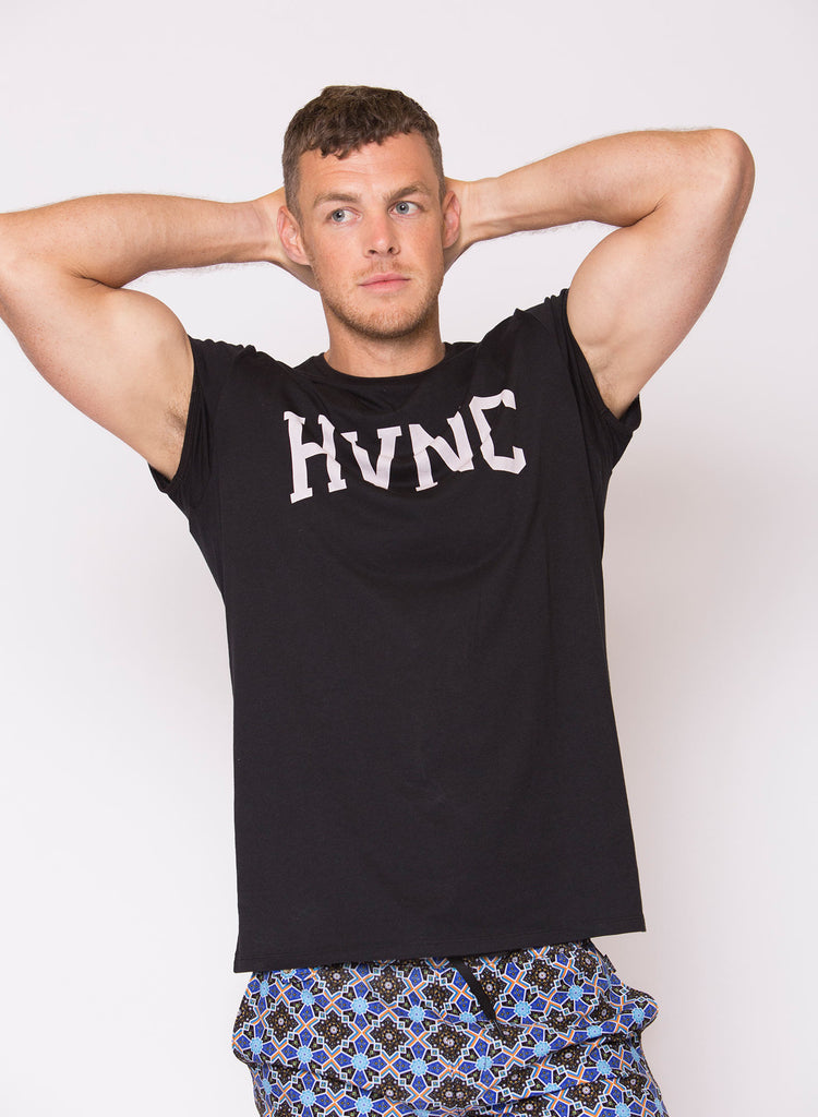 HVNC Cap Sleeve T-Shirt - Black