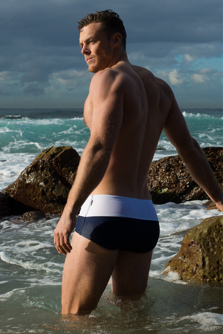 HVNC Spliced Navy Swim Trunc