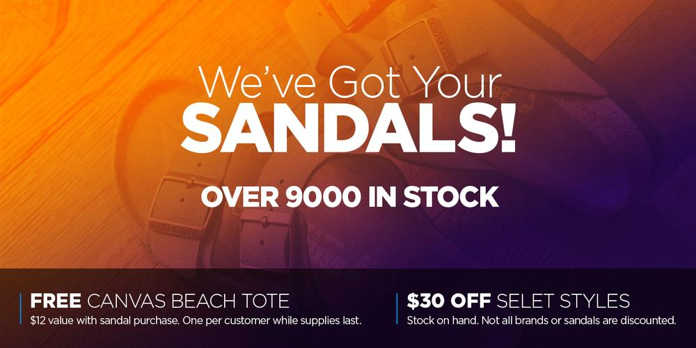 Johnson's Shoes - 9000 Sandals in Stock on Sale Now