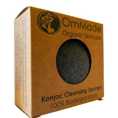Konjac Cleansing Sponge - OmMade Organic Skincare
