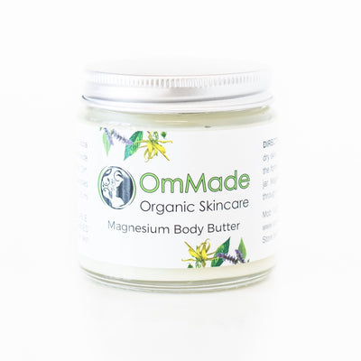 Magnesium Body Butter 120ml | Vegan | Refillable in Glass Jar - OmMade Organic Skincare