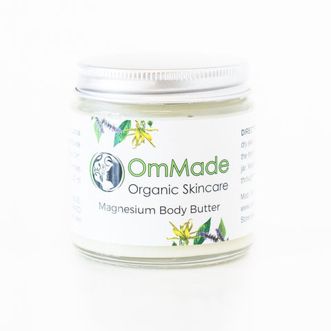 Magnesium Body Butter 120ml | Vegan | Refillable - OmMade Organic Skincare
