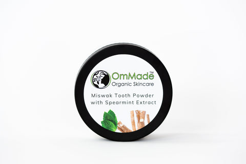 Miswak Tooth Powder in tin  | Vegan | Refillable - OmMade Organic Skincare
