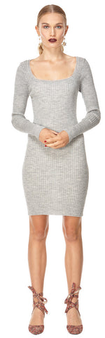 Kate Knit Dress Grey