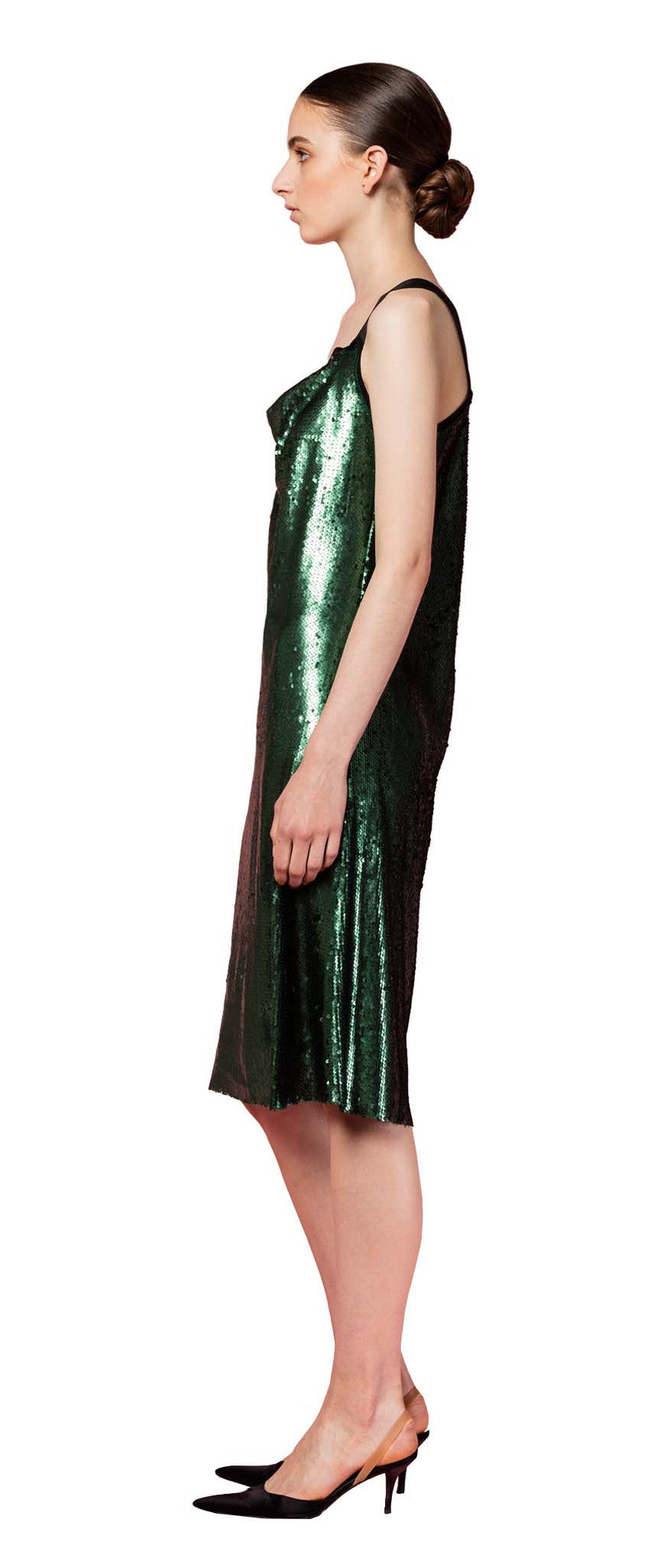 Saint Dress Forest Green