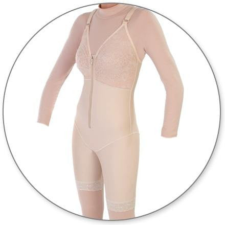 9bc57fba40a Mid Thigh Body Shaper with Bra Top - Contour MD Style 27B