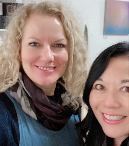 Michelle Cox (left) and Valerie Khoo (right)