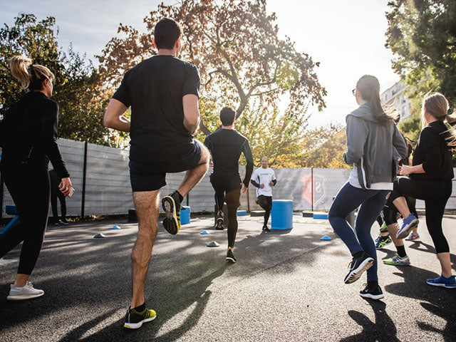 people exercising outdoor