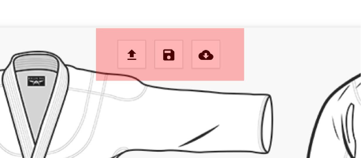 Three Buttons On Mockup Tool Interface