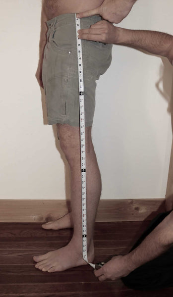 Measure From Hip To The Underside Of The Outside Ankle Bone