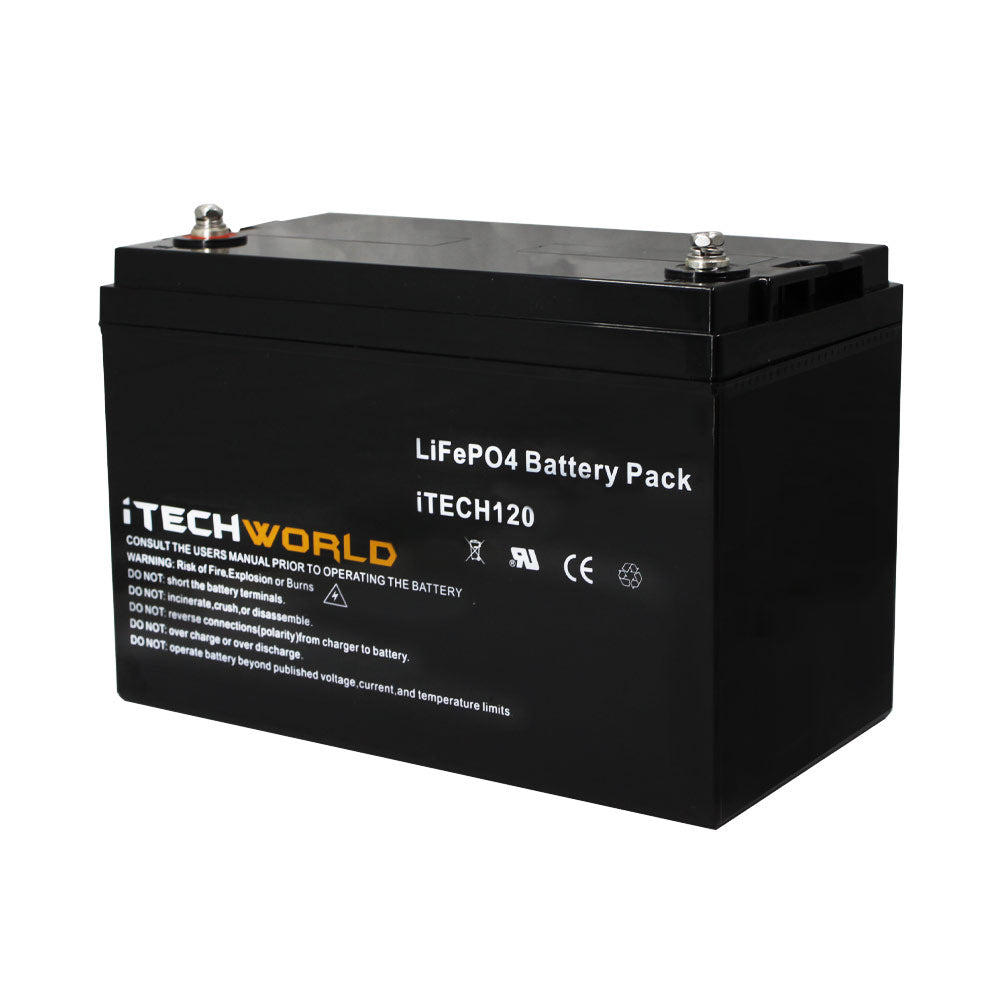 120Ah Lithium Battery Itechworld Drop In Replacement Caravan Battery High Discharge iTECH120 Best Lithium Battery Australian Made Safe Lithium secondary battery warranty
