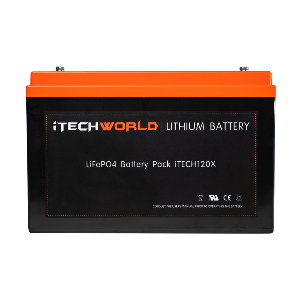 120Ah Lithium Battery Itechworld Waterproof Drop In Replacement Caravan Battery