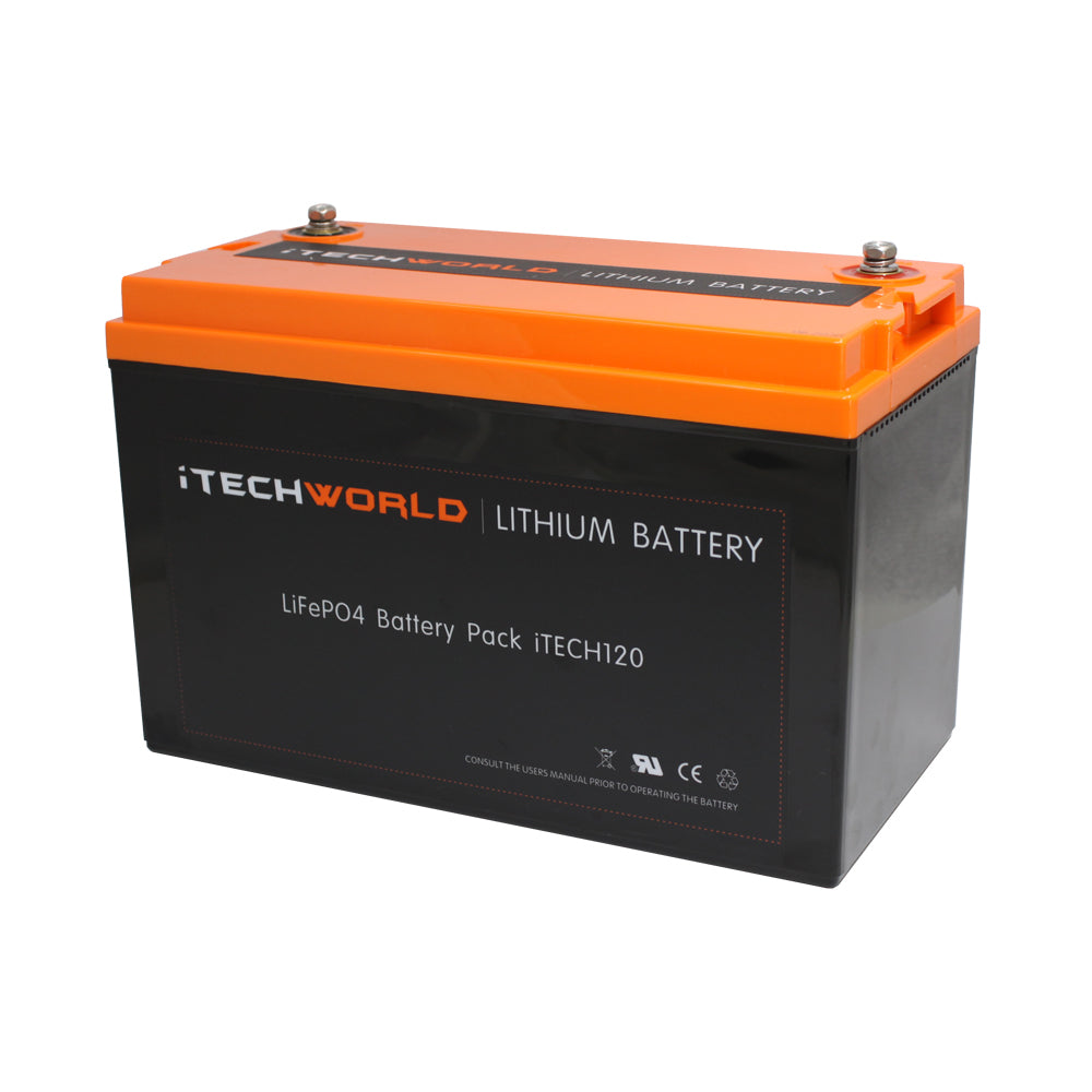 120Ah Lithium Battery Itechworld Waterproof Drop In Replacement Caravan Battery  High Discharge iTECH120X Best Lithium Battery