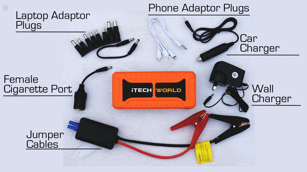 iTECH900A Portable Jump Starter Backup Power Bank