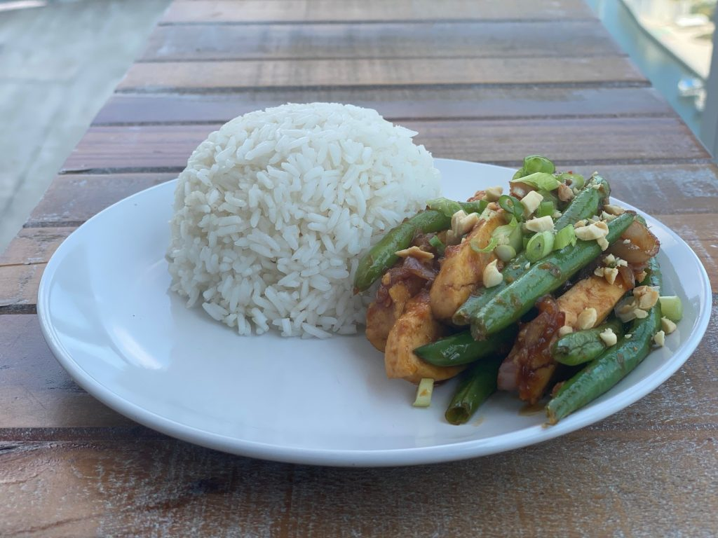 tasty soy vegan dish made with home made tofu