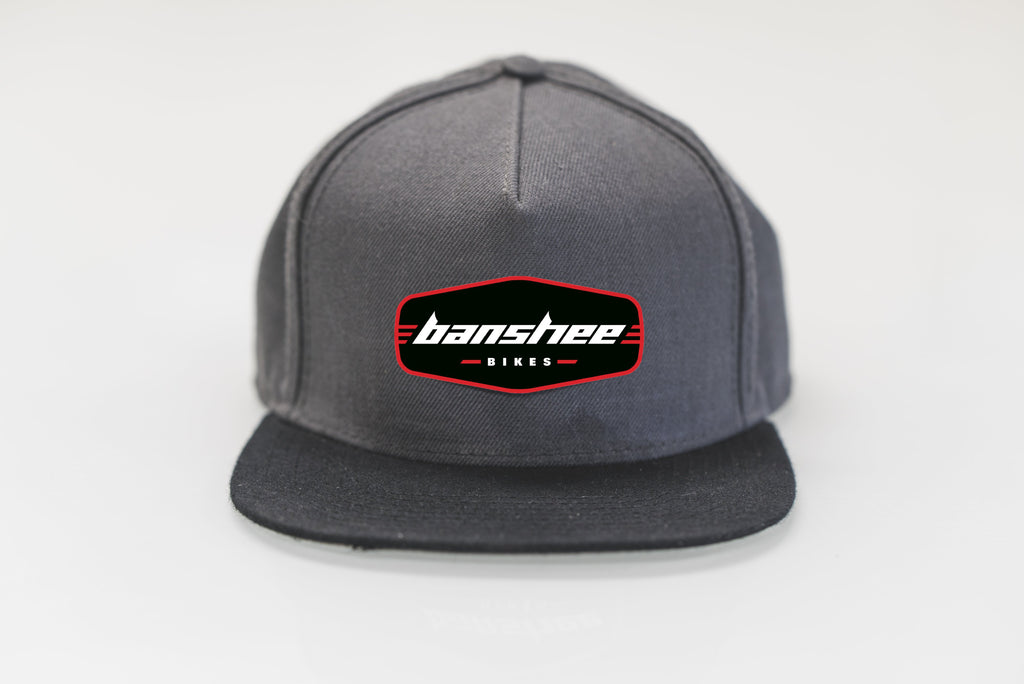 Banshee Snapback Logo Hat Grey/Red/Black