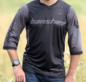 Medium Black/Grey - Banshee Enduro Jersey