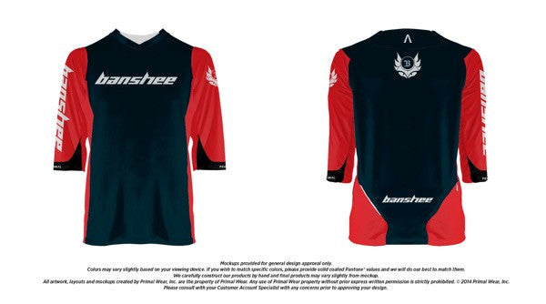 Medium Black/Red - Banshee Enduro Jersey