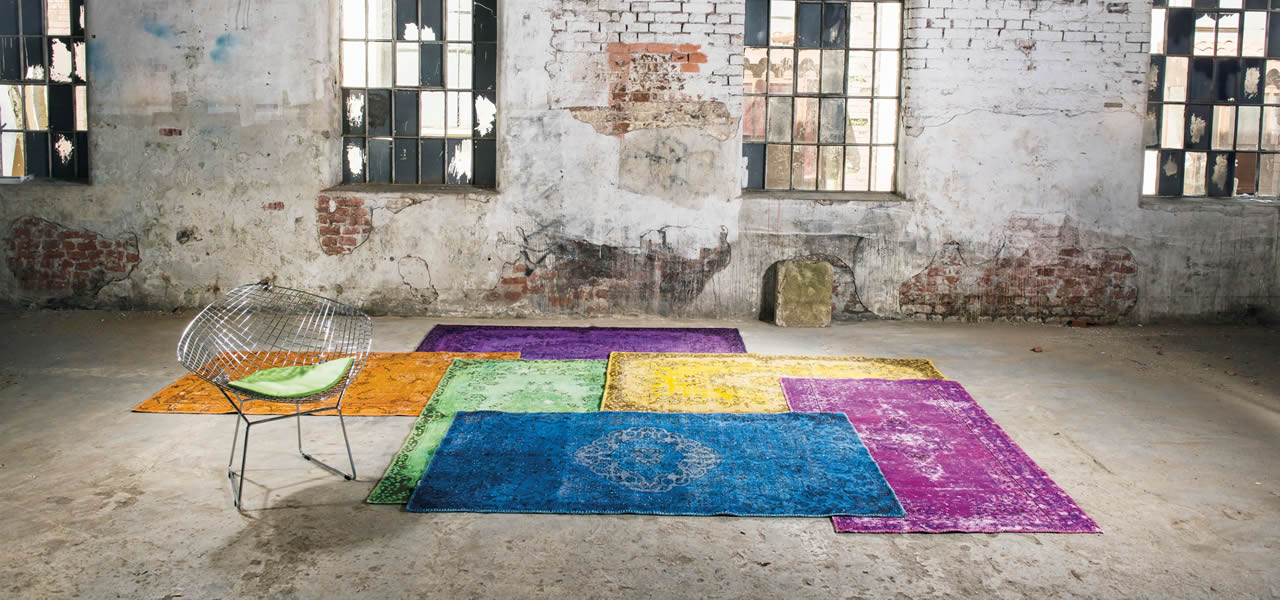 Handwoven Vintage Overdyed Turkish Rugs & Kilims - Unique Rug Store