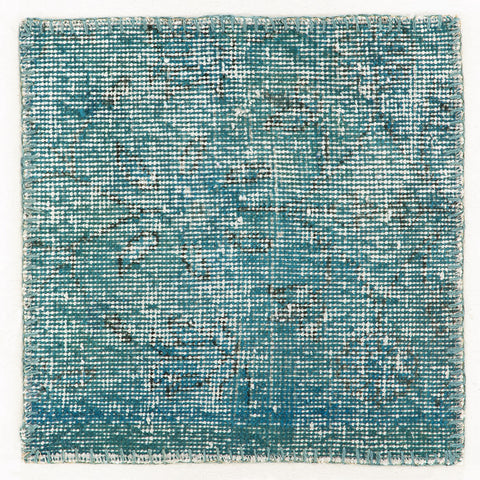 Turquoise Patchwork rug piece