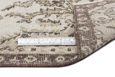 Beige Over Dyed Vintage Rug 3'9'' x 6'12'' ft 115 x 213 cm