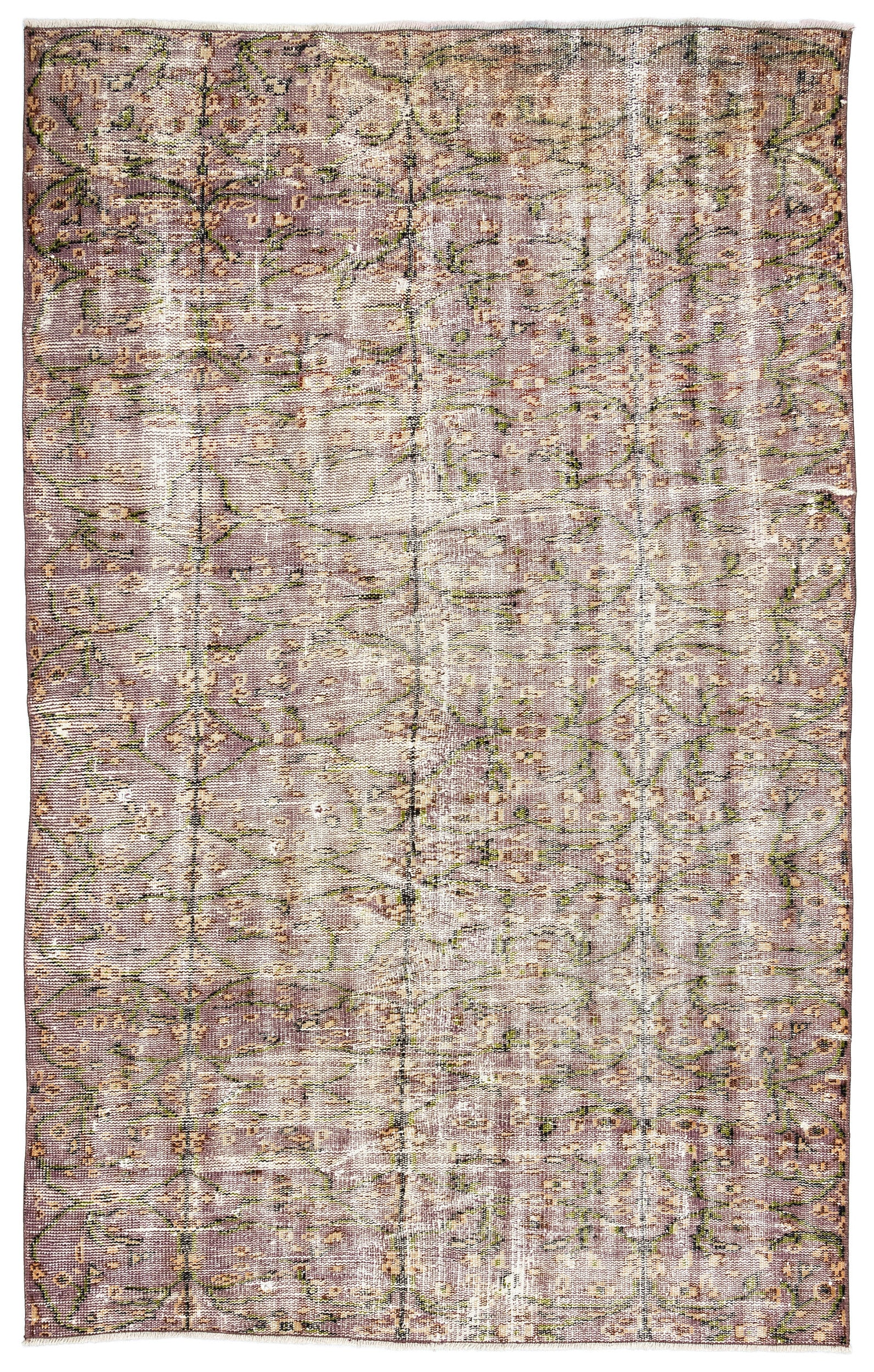 Retro Over Dyed Vintage Rug 4'9'' x 7'7'' ft 146 x 230 cm