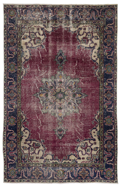 Naturel Over Dyed Vintage Rug 5'8'' x 8'11'' ft 172 x 272 cm
