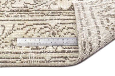 Beige Over Dyed Vintage Rug 5'12'' x 9'8'' ft 182 x 294 cm