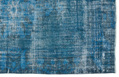 Turquoise  Over Dyed Vintage Rug 5'0'' x 8'2'' ft 153 x 249 cm
