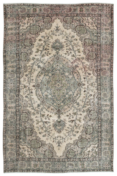Naturel Over Dyed Vintage Rug 5'7'' x 8'3'' ft 170 x 252 cm