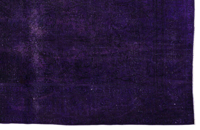 Purple Over Dyed Vintage XLarge Rug 9'9'' x 12'7'' ft 298 x 384 cm