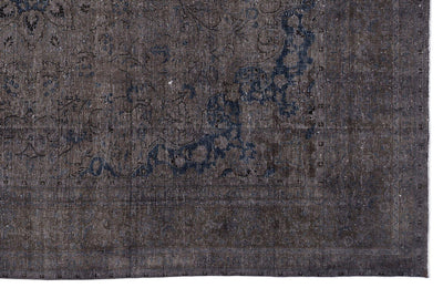 Gray Over Dyed Vintage XLarge Rug 9'5'' x 12'10'' ft 288 x 390 cm