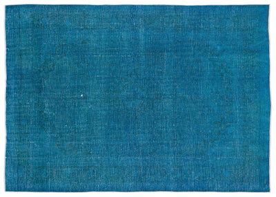 Turquoise  Over Dyed Vintage XLarge Rug 9'5'' x 12'12'' ft 288 x 395 cm